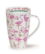DUNOON-XL-mug-beker-Tasse-fbC-Henley-600ml-FLAMBOYANCE-grappige-Flamingo's-design-Cherry Denman