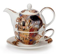 Tea for one-DUNOON-BELLE EPOQUE-the Kiss-Gustav Klimt-22karaats-goud-4delig-