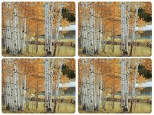 Pimpernel-placemats-kunststof-kurk-set/4-BIRCH BEAUTY-Berkenbomen-bos-bruine-bladeren-40.5x30.5cm