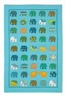 Sarawak-ELEPHANT HERD-Ulster-Weavers-katoenen-theedoek-bedrukt-olifanten-parade-Cotton-Tea towel