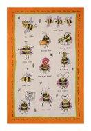 Ulster Weavers-linnen-theedoek-BEES-bijen-tekst-Bee Happy-Queen Bee-Bee Line-48x75cm