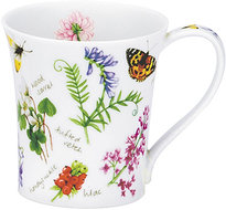 Dunoon-beker-mokje-JURA-veldbloemen-vlinders-insecten-210ml
