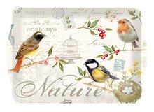 Dienblad-medium-Easy Life-Italy-LES OISEAUX-vogels-33x22cm-Nostalgie-birds