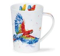 DUNOON-Argyll-XL-beker-mok-MACAW-Papagaai-Ara-exotische-vogel-hoge-poten-500ml-Jake Lewis