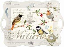 Nuova-melamine-dienblad-53x38cm-oiseaux-vogels-birds-