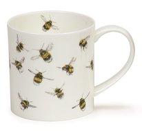 Dunoon-fbC-beker-mok-Orkney-H LONGMUIR COLL-BUMBLING BEE-bijen-design-Hannah Longmuir-350ml
