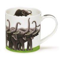 Dunoon-fbC-beker-mok-Orkney-SHOW-OFFS-Elephants-olifanten-design-Kate-Mawdsley-350ml