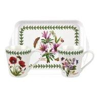 Pimpernel-BOTANIC GARDEN-2bekers-Mug & Tray-set-designs-botanische-bloemen
