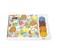 Paper+Design-combibox-TROPICAL-FRUITS-papieren-servet-33x33cm-waxinelichtjes-kaarsjes-lunch-diner
