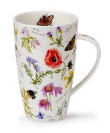 Dunoon-XL-beker-mok-Tasse-mug-HENLEY-fbC-WAYSIDE-Veldbloemen-Jane Fern
