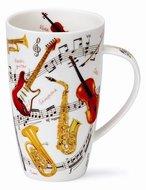 XL-beker-mok-fbC-Instrumental-muziek-instrumenten-viool-gitaar-blaas-fluit-saxofoon
