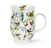 Dunoon-beker-mok-mug-Becher-Suffolk-SECRET-WOOD-Woodpecker-specht-vlinders-vogels -Jane Fern