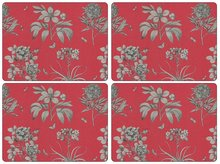 Pimpernel-placemats-set/4-Etchings-&-Roses-rood