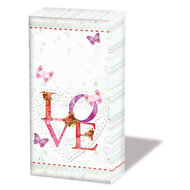 Papieren-zakdoekjes-tissue-paper-handkerchief-LOVELY-LOVE-butterfly-vlinder-Ambiente-12211385