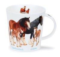 Dunoon-Cairngorm-XL-beker-mug-Farmyard-HORSES-480ml-Paarden-rassen