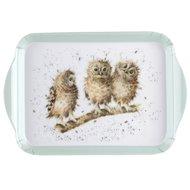 WRENDALE-Scatter-Tray-dienblad-Small-OWLS-Bosdieren-uilen-14,5x21cm-Pimpernel-Hannah_Dale-