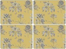 Pimpernel-placemats-set/4-Etchings-&-Roses-goud-geel