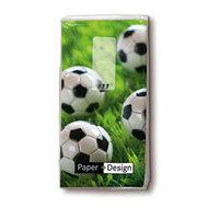 Papieren-zakdoekjes-tissue-GO_FOR_GOAL-voetbal-gras-Paper+Design-p/10-01276