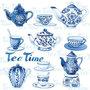papieren-cocktail-servetten-Ambiente-25x25cm-TEA-MOMENTS-Blue-theepotjes