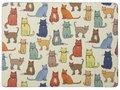 placemats-CATWALK-gekleurde-Katten-pk4-large-kunststof-kurk