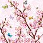 Ambiente-papieren-servetten-BLOSSOM ROSE-33x33cm-Bloesemtakken-roze