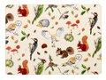 placemats-klein-WOODLAND MF-set/4-bosdieren-Small-29x21cm-Madeleine Floyd-Eekhoorn-egel-specht-bladeren