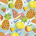 Papieren-servetten-klein-TROPICAL FRUITS-p/20-25x25cm-Paper+Design-cocktail-snack