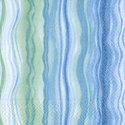 Paper+Design-papieren-servetten-BLUE-WAVES-cocktail-25x25cm-groen-blauw-golven-zee-