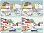 Pimpernel-placemats-s/4-large-HARBOUR-haven-boat-boot-maritiem-aquarel-tinten-