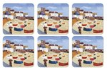 Onderzetters-Pimpernel-s/6-SINT-IVES-WINDBREAK-Cornwall-beaches-strand-zee-Engelse-kust-