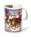 Dunoon-verzamel-kerstbeker-2011-CHRISTMAS-MUG-Devon-Santa-Kerstman-slee-rendieren-winter-Sue-Scullard