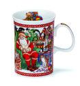 Dunoon-kerstbeker-2010-CHRISTMAS-MUG-Devon-Santa-Kerstman-stoel-cadeau's-geschenken-kinderen-Sue Scullard-