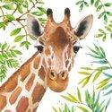 Papieren-servetten-PPD-TROPICAL-GIRAFFE-wilde-dieren-Giraf-1332710