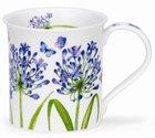 beker-mok-BUTE-Beau-Jardin-bloemen-blauwe-Agapanthus-Afrikaanse-Lelie-vlinders