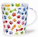 beker-mok-fbC-LOMOND-Pawprints-gekleurde-kattenpootjes-visgraatjes
