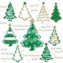 papieren-servetten-p/20-Ambiente-lunch-diner-33x33cm-PAINTED-TREES-green-Kerstboom-gekleurd-groen-tekst-33312240