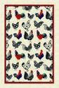 Ulster-Weavers-100%-linnen-theedoek-kip-haan-Rooster