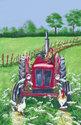 Ulster-Weavers-100%-linnen-theedoek-traktor-trekker