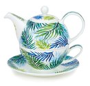Dunoon-Tea_for_one-ORINOCO-theesetje-fine bone China-4 delig-design-Caroline_Bessey-Palm-bladeren