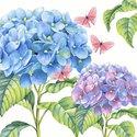 Paper+Design-lunch-diner-papieren-servetten-GENTLE_HYDRANGEA-blauw-paars-33x33cm-210222-bloem-plant-vlinder