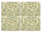 Pimpernel-hittebestendige-placemats-set/4-Large-WILLOW BOUGH Green- wilgentakken-takken-bruin-groen