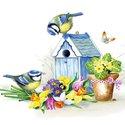 papieren-servetten-cocktail-25x25cm-IT'S_SPRINGTIME-spring-voorjaar-lente-vogelhuis-pimpelmees-12508980