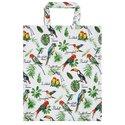 Ulster-Weavers-Lak-PVC-gevoerd-boodschappentas-Gusset-TROPICAL_BIRDS-Tropische-vogels-Medium-gevoerd-binnenvak-rits-604TBD