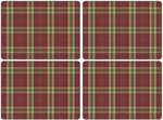 Placemats-Pimpernel-set/4-Tartan-Red-Schotse-Ruit-rood-groen