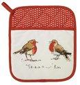 Ovenwant-pannenlap-Christmas-Robin-Roodborstje-rood-kerst
