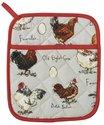Ulster Weavers-ovenwant-pannenlap-pot mitt-CHICKEN & EGG-Madeleine Floyd-kippen-eieren