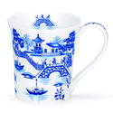 Dunoon-fine-bone-China-Jura-blauw-Oriental-bridge-brug