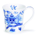 Dunoon-fine-bone-China-Jura-blauw-Oriental-birds-vogels