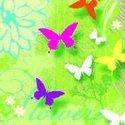 Ambiente-papieren-lunch-servet-33x33cm-gekleurde-vlinders-