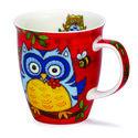 Dunoon-medium-beker-nevis-owls-red-uilen-rood-bloem-480ml